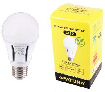 Patona LED-Lampe Glüh-Birne E27 10W / 60W Warm-Weiß 3000K RA80 R60 Leuchtmittel