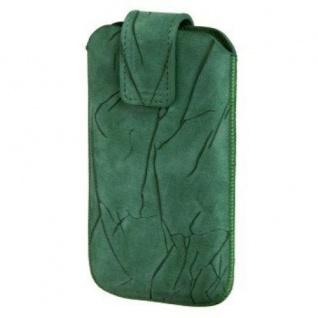 Hama Crinkle Sleeve Leder Tasche Case universal für Apple iPhone 4/4S HTC One V