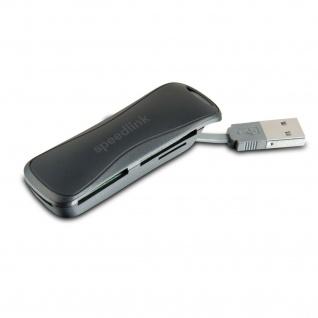 SPEEDLINK CARREA Portable Card Reader - USB 2.0 Tragbar Kartenleser SD MMC MS
