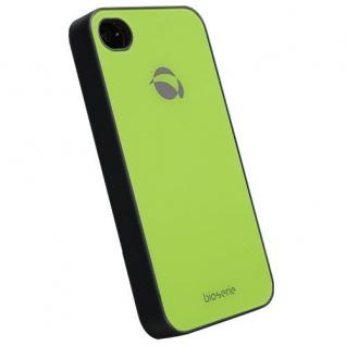 UVP39, 90? Krusell BIO Glas Cover Tasche grün für Apple iPhone 4 4S Hard-Case Bag