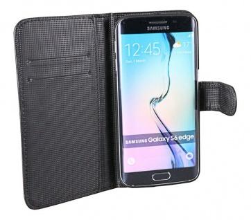 Patona Slim Book-style Tasche Klapp-Etui Schutz-Hülle für Samsung Galaxy S6 Edge
