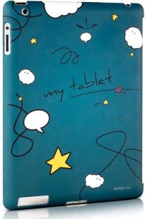 Speedlink Comic Back-Cover Hülle Smart Back-Case Tasche für Apple iPad 3 4 3G 4G