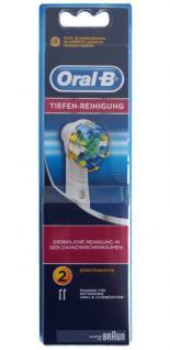 Oral-B 2er Set Aufsteck-Bürsten Tiefen-Reinigung Ersatz-Bürsten für Zahnbürste