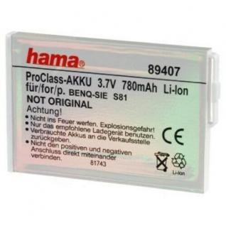 Hama Li-Ion Handy Akku Batterie für BenQ-Samsung S81 EBA-15 73, 7 V 780 mAh
