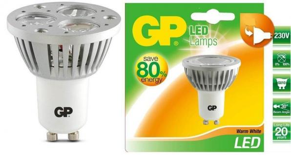 GP LED Spot GU10 4W/50W Warm-Weiss Lampe Glühbirne Leuchtmittel Birne Strahler