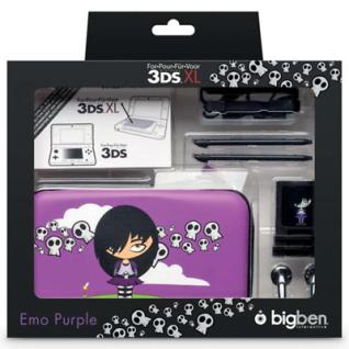 Bigben Zubehör-Set Emo Hard-Case Tasche Spiele-Hülle für Nintendo New 3DS 3DS XL