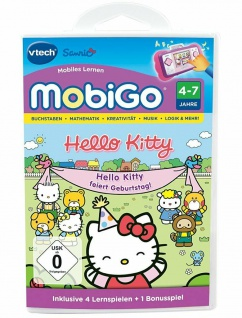 Vtech Game Hello Kitty Lern-Spiel für mobiGo 1 2 Lern-Tablet Kinder-Computer