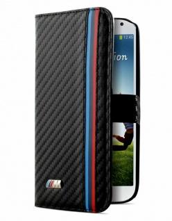 BMW M Booklet Cover Klapp-Tasche Schutz-Hülle Case für Samsung Galaxy S4 SIV