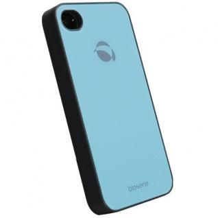 UVP39, 90? Krusell BIO Glas Cover Tasche blau für Apple iPhone 4 4S Hard-Case Bag