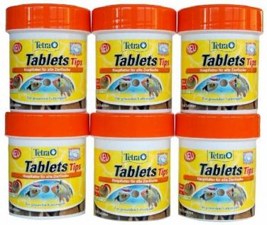 Tetra Tips 450x Futter-Tabletten Fisch-Futter Zierfischfutter Hafttabletten Tabs - Vorschau 1