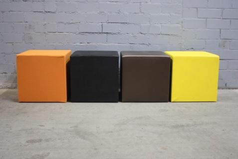 Designer Sitzwürfel 50x50x50 verschiedene Farben Sitz-Hocker Wartesessel Praxi