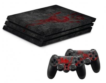 Hama Design-Skin Undead Blood Folie Aufkleber Sticker Vinyl für Sony PS4 PRO