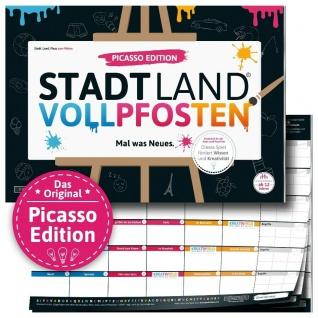 DENKRIESEN Stadt Land Vollpfosten Picasso Edition Kinder-Spiel Wissens-Spiel