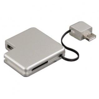Hama USB 2.0 Hub + 32in1 Card-Reader Kartenleser Combi für SD MS PRO DUO SM MMC