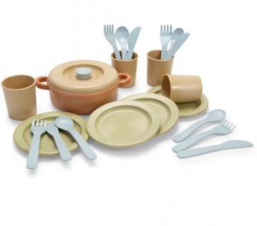 Dantoy Bio Essservice Kochset Besteck Kinder Lern-Spielzeug Geschenk 22 Teile