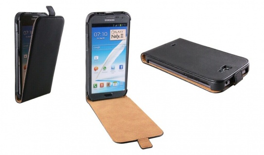 Patona Slim Flip Klapp-Tasche Schutz-Hülle Case für Samsung N7100 Galaxy Note 2