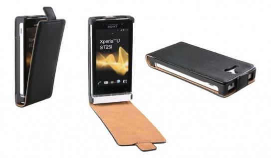 Patona Slim Flip-Cover Klapp-Tasche Schutz-Hülle Case für Sony ST25i Xperia U