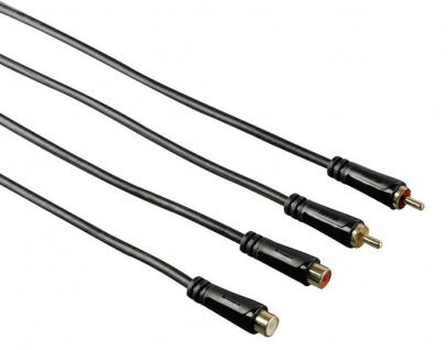 Hama HQ 5m Cinch Verlängerungs-Kabel Cinch-Kabel RCA Chinch Audio Verlängerung