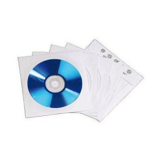 Hama 100x Stück CD DVD Blu-Ray Papierhüllen Index Hüllen Sleeves Sichtfenster