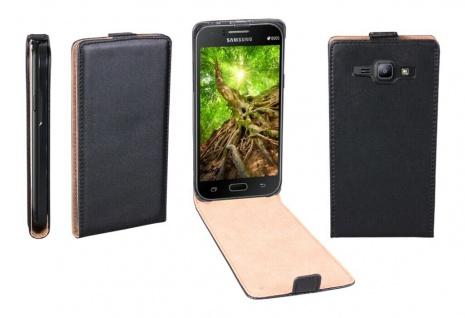 Patona Slim Flip Klapp-Tasche Schutz-Hülle Cover Case für Samsung Galaxy J1