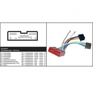 AIV ISO 16-Pol Autoradio-Adapter Auto-Radio Adapter-Kabel für Mazda ab 2016