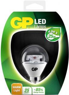 GP LED Mini Birne Klar E14 4W / 25W Warmweiß LED-Lampe Ball Kugel Leuchtmittel
