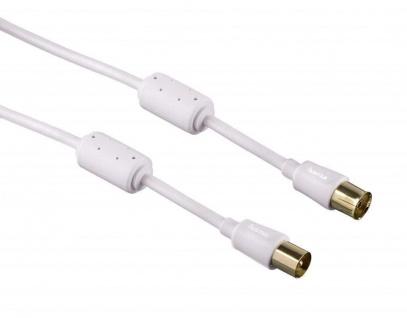 Hama Antennen-Kabel Slim 90dB Anschluss-Kabel Koax-Kabel Digital TV 4K UHD HD 3D