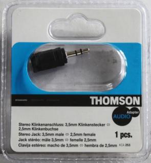 Thomson Adapter Klinke 2, 5mm Klinken-Buchse 3, 5mm Klinken-Stecker Kupplung