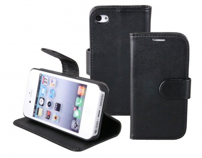 Patona Slim Flip Book-style Tasche Klapp-Etui Schutz-Hülle für Apple iPhone 4 4S