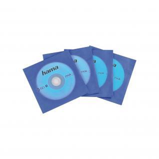 Hama 10x Stück Blu-Ray Papierhüllen blau Hüllen Sleeves CD DVD Sichtfenster