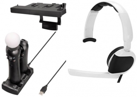 Hama VR Pack Lade-Station + Headset + Kamera-Halterung für Sony PS4 PS VR Move