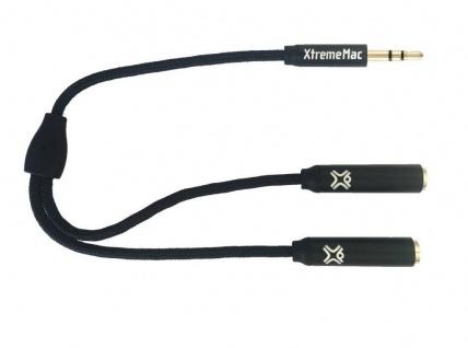 XtremeMac Splitter Klinken-Kabel Klinken-Adapter 3, 5mm Stecker 2x Buchse Y-Kabel