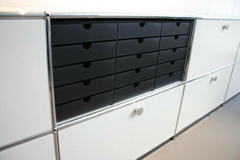 Styro System-Kasten 5er passend für USM Haller Inos Papier-Ablage Regal Box