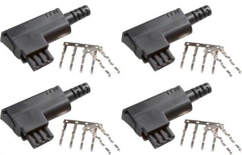 4x Pack Vivanco TAE-N Stecker Plug TAE-Stecker Knickschutz schwarz Telefon Fax