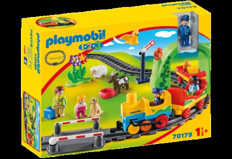 Playmobil 70179 Meine erste Eisenbahn bunte Eisenbahn-Wagons mit Passagieren