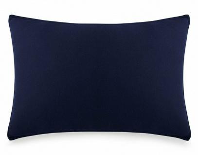 Calvin Klein Kissen-Bezug Navy 50x75cm Kissen-Hülle Kopfkissen Bett-Wäsche