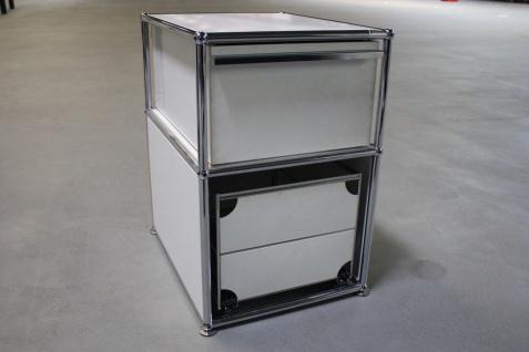 USM Haller Stand-Container Schublade + Hängeregistratur weiß für Schreibtisch