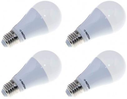Patona 4x LED Birne E27 12W/75W Warm-Weiß 3000k LED-Lampe Glühbirne Leuchtmittel