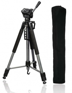 Hama Dreibein-Stativ Action II 165cm 3D 3-Wege-Kopf Video Foto-Stativ + Spikes