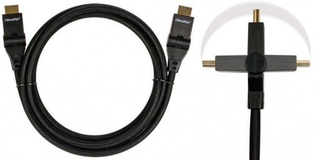 Brooklyn HQ HDMI-Kabel Flex-Kabel Full HD 1080p 1.3b Stecker 90°-180° für PS3 ..