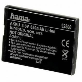 Hama Li-Ion Akku Batterie für Nokia BL-5BT 2228 2600 Classic 7510 Supernova N75