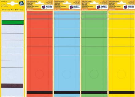 Avery Zweckform Ordner-Rücken A4 Breit Lang Ordner-Etiketten Schilder Aufkleber