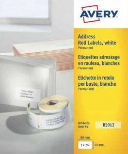 Avery Zweckform 220x Thermo-Etiketten Rolle 99, 1x38, 1mm Adress-Etiketten Brief