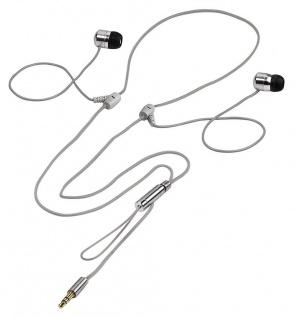 Hama Strap In-Ear Stereo Kopfhörer Headphone ME-477 Alu 3, 5mm Klinke Silber