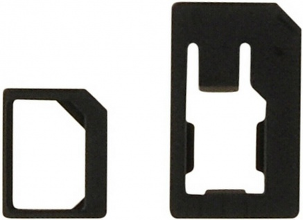 Cellux Nano-SIM to Micro-SIM & Nano-SIM to Mini-SIM Adapter Kit schwarz