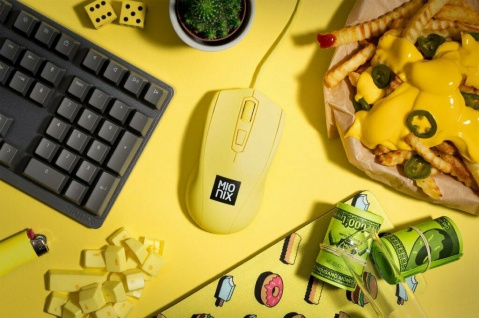 Mionix Gaming + Artists Maus Avior French Fries Optisch USB PC Mouse 5000 DPI