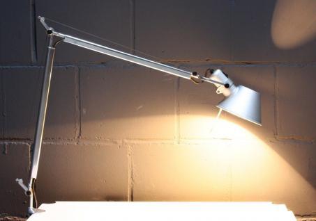 Artemide Tolomeo Architekten Schreibtisch-Lampe Tisch-Leuchte +Halterung silber