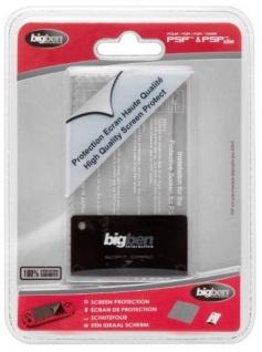 Bigben 2in1 Display-Schutz + Tuch Folie für Sony PSP Slim & Lite Classic Street
