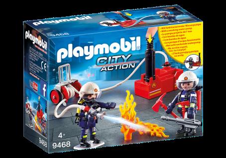 Playmobil 9468 Feuerwehrmänner mit Löschpumpe City Action Feuerwehr Rettung