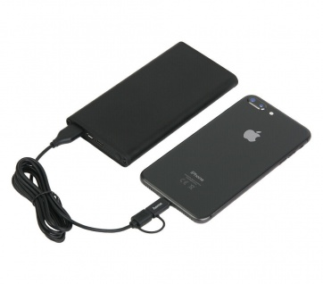 Pazzimo Powerbank Zusatz-Akku USB-PD + QC 3.0 für Apple iPhone 12 11 SE 8 iPad